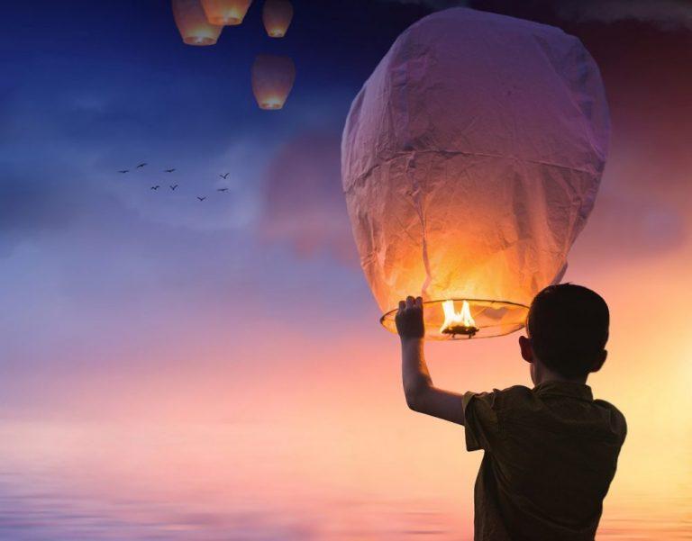 De loslaat ballon meditatie