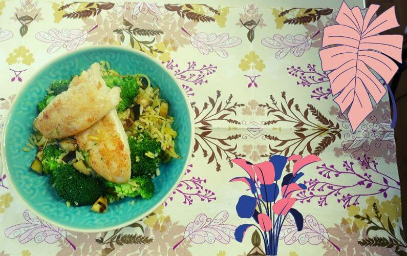 PDS rijst met vis en groenten